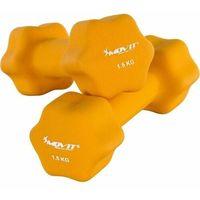 Hantle, MOVIT® ZESTAW 2x HANTLE NEOPRENOWE 1,5 KG CIĘŻARKI - 2x 1,5kg pomarańczowy