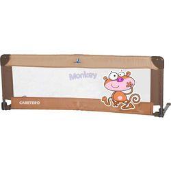 Barierka ochronna na łóżko Caretero Safari 120x40cm - Brown