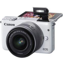 Aparat CANON EOS M100 Biały + Obiektyw EF-M 15-45mm IS STM + Zamów z DOSTAWĄ W PONIEDZIAŁEK!
