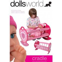 Drewniana kołyska dla lalek - Dolls World