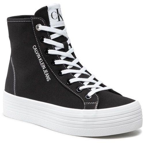 Damskie obuwie sportowe, Sneakersy CALVIN KLEIN JEANS - Vulcanized Ff Highlaceup Co YW0YW00125 Black BDS