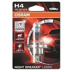 OSRAM H4 12V 60/55W P43t NIGHT BREAKER® LASER (do +130% więcej światła, do 40m dłuższy zasięg, do +20% bielsze światło) - BEZPŁATNY ODBIÓR: WROCŁAW!