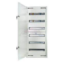 WYPRZEDAŻ Rozdzielnica modułowa natynkowa 108 modułów IP30 440x1055x132 Biała z zamkiem NRPSM 108 6X18 Z
