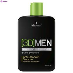 Schwarzkopf 3DMen, szampon przeciwłupieżowy dla mężczyzn, 250ml
