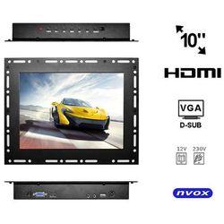 "NVOX OP1000VH Monitor open frame LCD 10"" cali LED VGA HDMI 12V 230V"