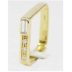 Złoty pierścionek z brylantami P542