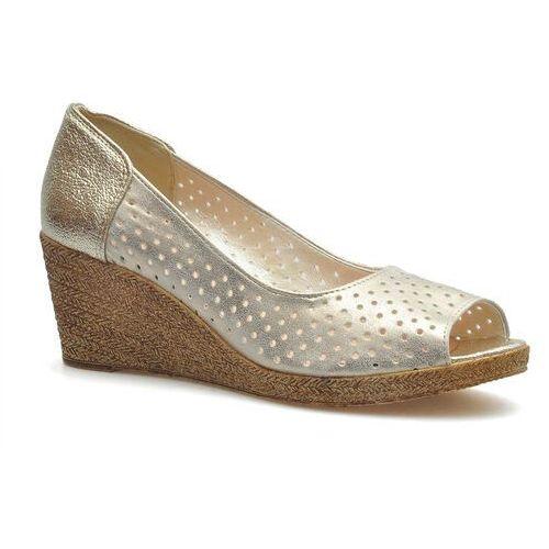 Sandały damskie, Sandały For-But 632 Złote dubaj