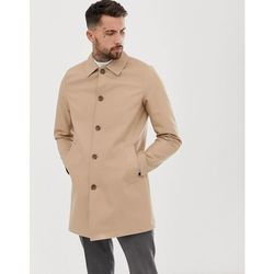 ASOS DESIGN shower resistant single breasted trench in stone - Stone