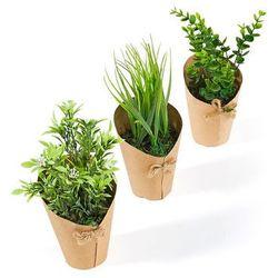 """Sztuczne kwiaty """"Ria"""" (3 części) bonprix zielony"""