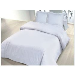 Komplet pościeli DENTELLE – poszwa na kołdrę 220 × 240 cm i 2 poszewki na poduszki 65 × 65 cm – kolor biały