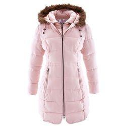 Krótki płaszcz z kapturem bonprix pastelowy jasnoróżowy