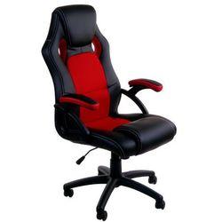 Fotel biurowy GIOSEDIO czarno-czerwony,model RCA001