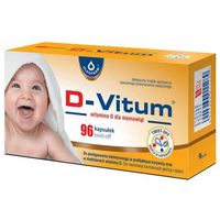 Witaminy i minerały, D-Vitum Witamina D dla niemowląt x 96 kapsułek twist-off