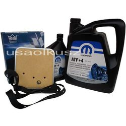Olej MOPAR ATF+4 oraz filtr oleju skrzyni biegów 42RE Jeep Cherokee XJ