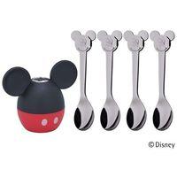 Sztućce dla dzieci, WMF - Mickey Mouse Komplet 4 łyżeczek z solniczką