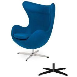 Fotel Jajo EGG CLASSIC - 3 kolory nóżek - wełna - Marynarski niebieski