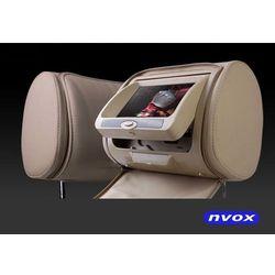 """NVOX JHR7218D BE Zagłówek multimedialny z maskownicą 7"""" cali HD DVD USB SD AV IR FM GRY"""