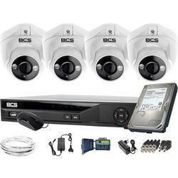 ZM11973 4 kamery zewnętrzne wewnętrzne BCS-DMQE1500IR3-B BCS-XVR04014KE-II 1TB