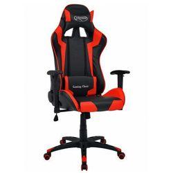 Czarno-czerwony fotel gamingowy z poduszkami - Trevos