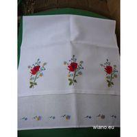 Ręczniki, Ręcznik haftowany Bukiet kwiatów