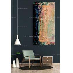 Duże obrazy nowoczesne - ręcznie malowane - pastelowe wariacje rabat 10%