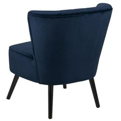 Fotel w stylu Glamour Lark VIC ciemny niebieski