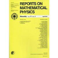 Gazety i czasopisma, Reports on Mathematical Physics 75/2 2015 Pergamon (opr. miękka)