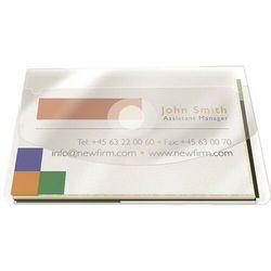 Kieszeń samoprzylepna Q-CONNECT, na wizytówki, z klapką, 105x60mm, 10szt., transparentna
