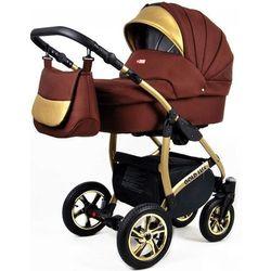 Sun Baby wózek 3w1 Raf-pol Gold LUX chocolate - BEZPŁATNY ODBIÓR: WROCŁAW!