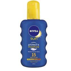 Nivea Sun Protect & Moisture spray do opalania SPF 15 (Sun Spray) 200 ml