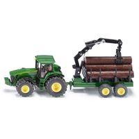 Traktory dla dzieci, Siku Farmer - Traktor z przyczepą leśną