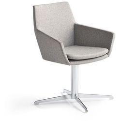 Krzesło konferencyjne FAIRVIEW, chrom, srebrnoszary