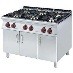 Kuchnia gazowa z szafką | 6 palników | 45000W | 1200x900x(H)900mm