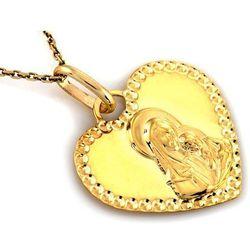 Zawieszka złota medalik serduszko - 0,92 g