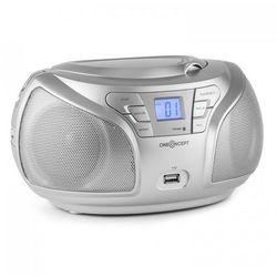 Groovie SL Boombox Bluetooth CD FM AUX MP3 srebrny