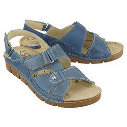 ŁUKBUT 554 j.niebieski, sandały damskie