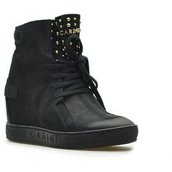 Sneakersy Carinii B4392-360 Czarne nubuk