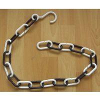 Łańcuchy, ŁAŃCUCH plastikowy Biało-czarny