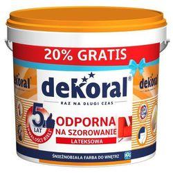 Farba Dekoral Akrylit biała 10 l + 20%