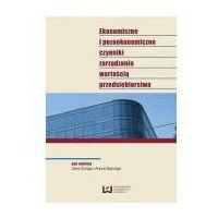 E-booki, Ekonomiczne i pozaekonomiczne czynniki zarządzania wartością przedsiębiorstwa