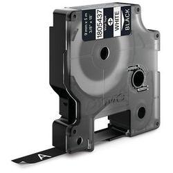 Dymo taśma do drukarek etykiet 1805437, biały druk/czarny podkład, 5,5m, 9mm