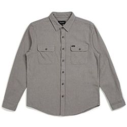 koszula BRIXTON - Bowery Solid L/S Flannel Grey (GREY) rozmiar: L