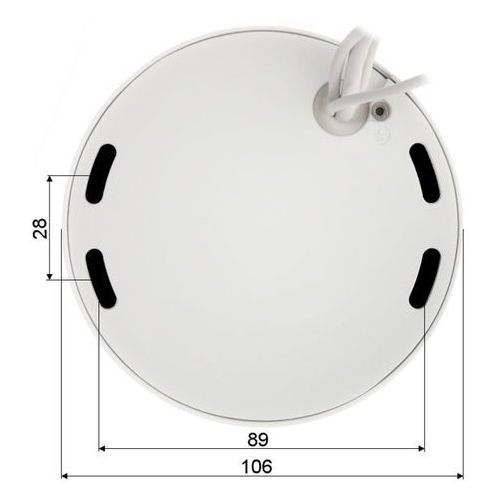 Pozostała optyka fotograficzna, KAMERA WANDALOODPORNA IP DH-IPC-HDPW1420FP-AS -0280B - 4.0 Mpx 2.8 mm DAHUA