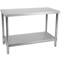 Stół roboczy - 100 x 60 cm - 114 kg - stal nierdzewna