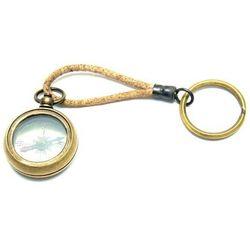 Breloczek - kompas na rzemyku KEY-0090