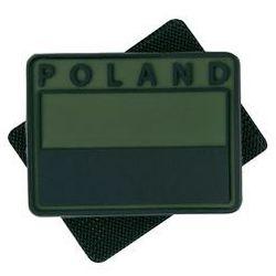 naszywka emblemat FLAGA PL kpl. 2szt. PVC olive green (OD-FP2-RB-02)