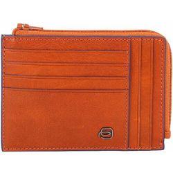 Piquadro Blue Square Etui na karty bankowe RFID skórzana 12,5 cm orange ZAPISZ SIĘ DO NASZEGO NEWSLETTERA, A OTRZYMASZ VOUCHER Z 15% ZNIŻKĄ