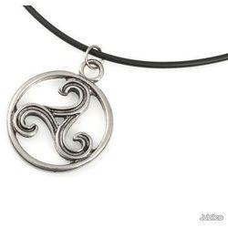 WISIOREK TRISKELION CELTYCKI amulety talizmany celtic kauczuk