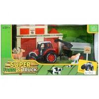 Traktory dla dzieci, Traktor metalowy z akcesoriami farma