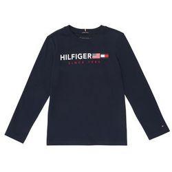 TOMMY HILFIGER Koszulka 'Flags Graphic L/S' ciemny niebieski / czerwony / biały